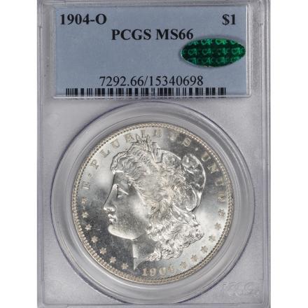 1904-O $1 Morgan Dollar PCGS MS66 #3293-1 (CAC)