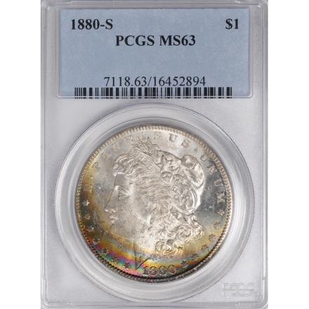 1880-S $1 Morgan Dollar PCGS MS63 3306-16