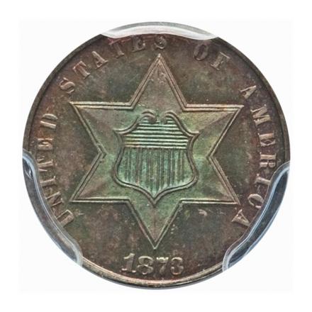 1873 3CS Three Cent Silver PCGS PR66