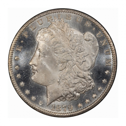 1879-CC $1 Morgan Dollar PCGS MS65+PL (CAC) #3204-3 WHITE! POP 4/0, NONE FINER!
