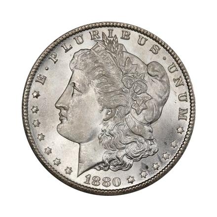 1880-CC $1 Morgan Dollar PCGS MS67