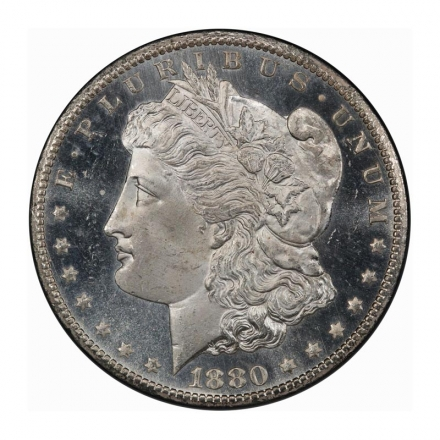 1880-CC $1 Morgan Dollar PCGS MS66+PL (CAC) #3255-2