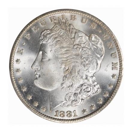 1881-CC $1 Morgan Dollar PCGS MS67+ (CAC) #3225-2