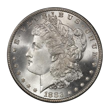 1883 $1 Morgan Dollar PCGS MS67+ (CAC) #3134-3