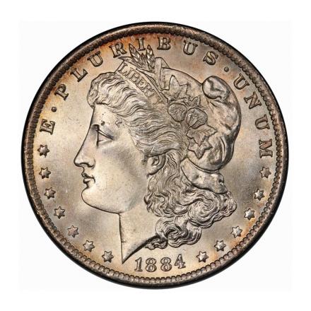 1884-O $1 Morgan Dollar PCGS MS67 (CAC) #3253-2