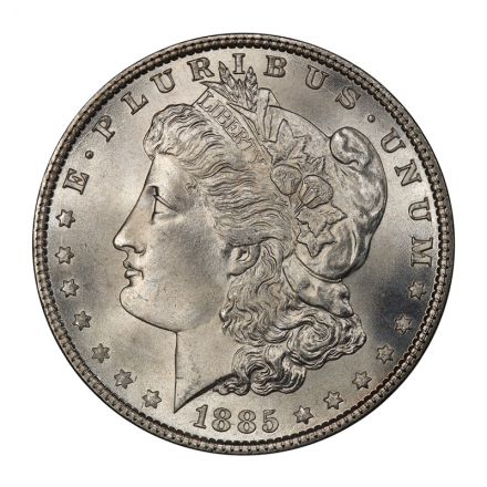 1885 $1 Morgan Dollar PCGS MS67+ (CAC) #3107-3 WHITE