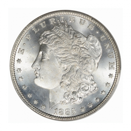 1885 $1 Morgan Dollar PCGS MS67+ (CAC) #3139 BLAST WHITE! ONLY FOUR HIGHER!