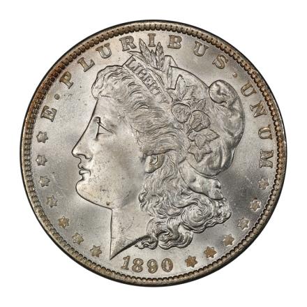 1890 $1 Morgan Dollar PCGS MS65+ (CAC) #3108-3