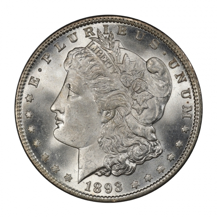 1893 $1 Morgan Dollar PCGS MS65+ (CAC) #3134-11 CONDITION RARITY! ONLY SIX FINER!