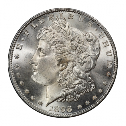 1898 $1 Morgan Dollar PCGS MS67+ (CAC) #3092 PQ TOP POP! NONE FINER!