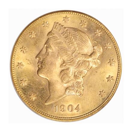 1904-S $20 Liberty Head Double Eagle PCGS MS64 #3229-4