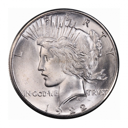 1922-S $1 Peace Dollar PCGS MS66 (CAC) #3179-7