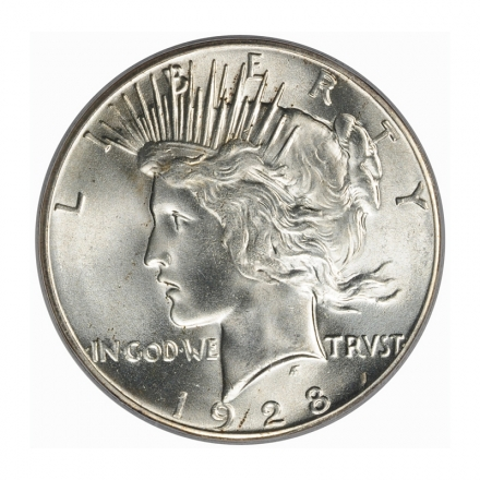 1928 $1 Peace Dollar PCGS MS65+ (CAC) #3203-2