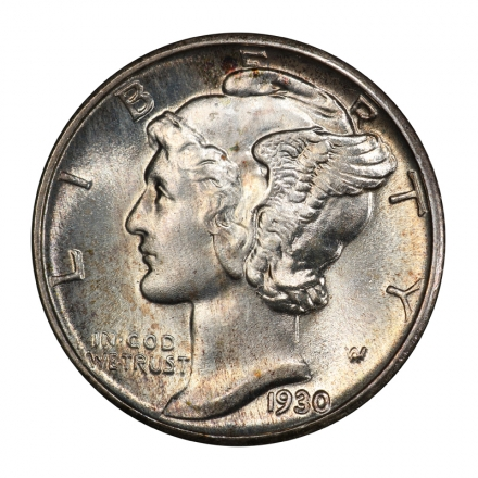 1930 10C Mercury Dime PCGS MS67FB #3099-8 WHITE!