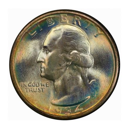 1934 25C Medium Motto Washington Quarter PCGS MS68 #3267-29