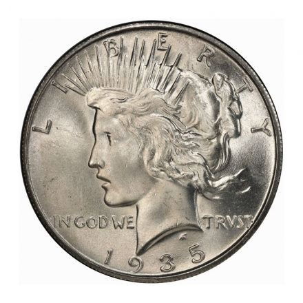 1935-S $1 Peace Dollar PCGS MS66