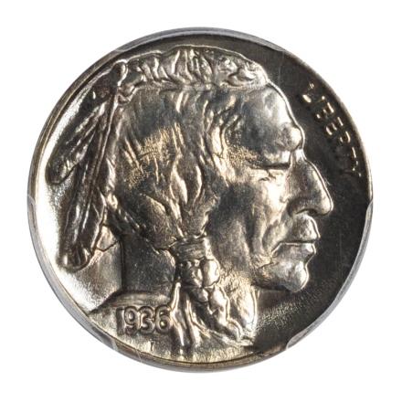 1936 5C Buffalo Nickel PCGS MS67+ #3148-33 PQ!