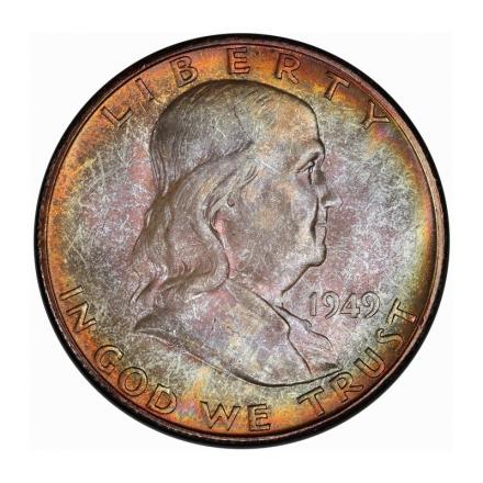 1949-S 50C Franklin Half Dollar PCGS MS64+ #3267-33