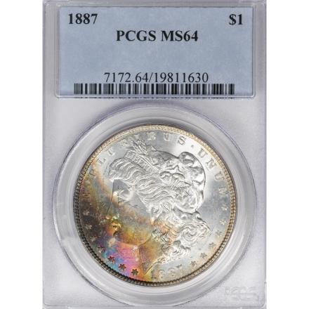 1887 $1 Morgan Dollar PCGS MS64 3306-19