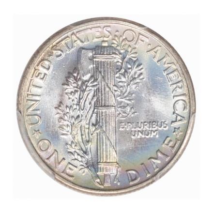 1943 10C Mercury Dime PCGS MS67+FB (CAC) PQ+ #3267-21