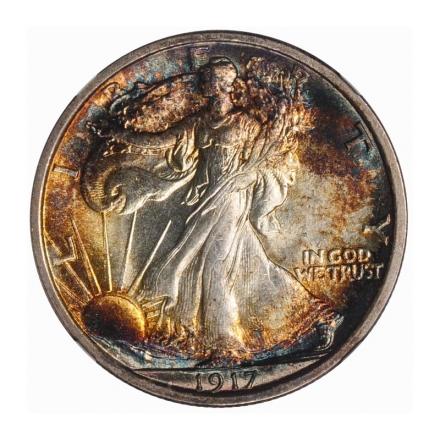 1917 Walking Liberty Half Dollar 50C NGC MS66+ #3267-31