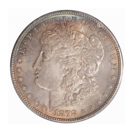 1878 7TF $1 7TF, Reverse of 1878 Morgan Dollar PCGS MS65 #3267-36