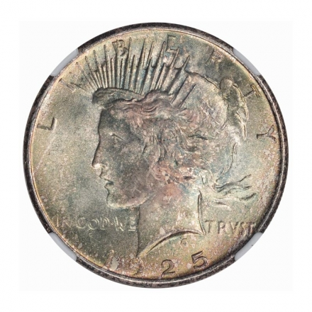 1925 Peace Dollar S$1 NGC MS66 #3267-39 COLOR