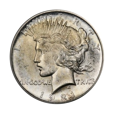 1921 $1 Peace Dollar - Type 1 High Relief PCGS MS64 (CAC) #3295-10 Elite 30 VAM 1F Struck From Proof Dies