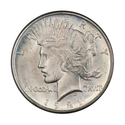 1921 $1 Peace Dollar - Type 1 High Relief PCGS MS65 #3295-20 Elite 30 VAM 1F Struck From Proof Dies