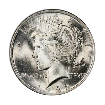 1923 $1 Peace Dollar PCGS MS66+ (CAC) #3297-13