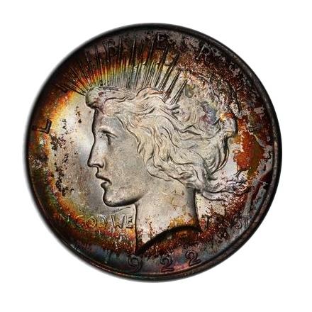 1922 $1 Peace Dollar PCGS MS64 #3298-1