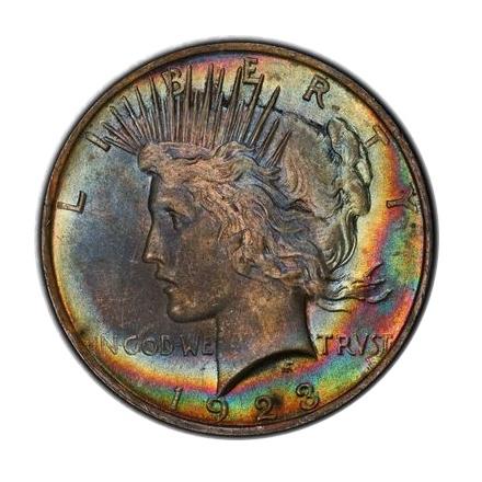 1923 $1 Peace Dollar PCGS MS65 #3298-11