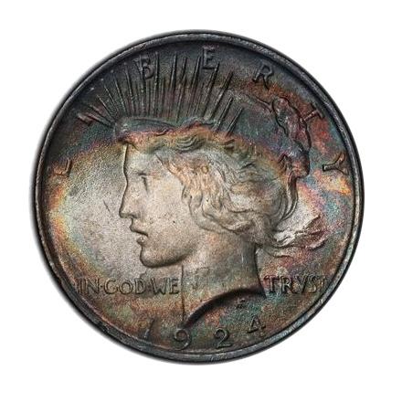 1924 $1 Peace Dollar PCGS MS65 (CAC) #3298-12