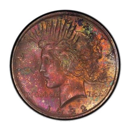 1922 $1 Peace Dollar PCGS MS64 #3298-18