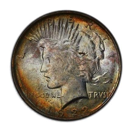 1922 $1 Peace Dollar PCGS MS63 (CAC) #3298-19