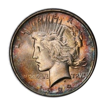 1923 $1 Peace Dollar PCGS MS64 #3298-20