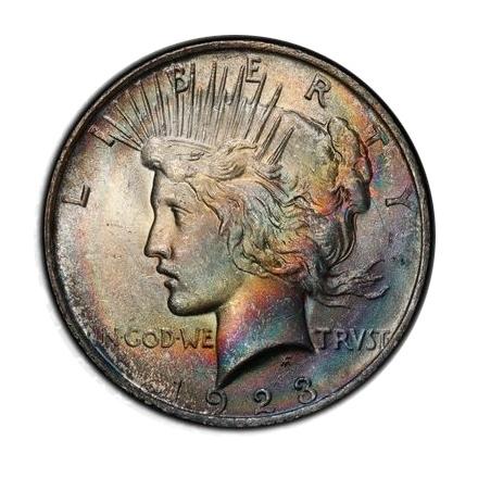 1923 $1 Peace Dollar PCGS MS64 (CAC) #3298-3