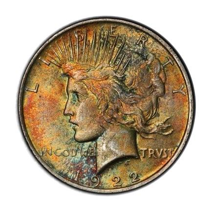 1922 $1 Peace Dollar PCGS MS61 #3298-5
