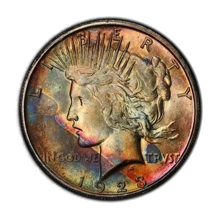1923-S $1 Peace Dollar PCGS MS64 #3298-9