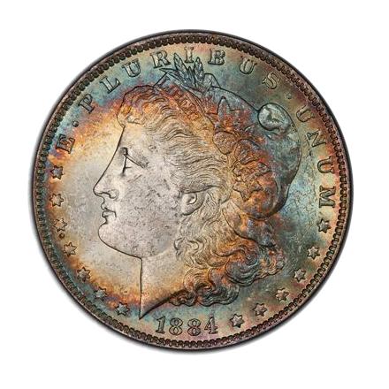 1884-O $1 Morgan Dollar PCGS MS62 (CAC) #3300-17