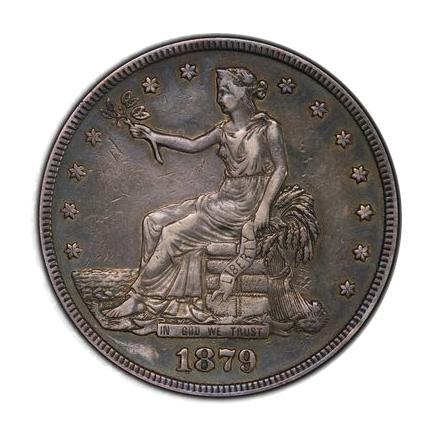 1879 T$1 Trade Dollar PCGS PR35 (CAC) #3300-8