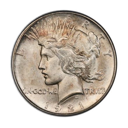 1921 $1 Peace Dollar - Type 1 High Relief PCGS MS64 (CAC) #3301-2 Elite 30 VAM 1F Struck From Proof Dies