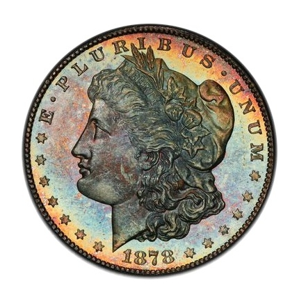 1878-S $1 Morgan Dollar PCGS MS63+PL (CAC) #3302-20