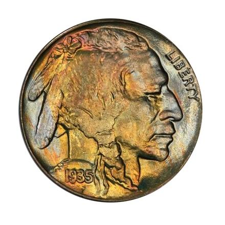 1935 5C Buffalo Nickel PCGS MS67+ 3312-6 (CAC)