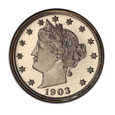 1903 5C Liberty Nickel PCGS PR67+CAM (CAC) #3320-1