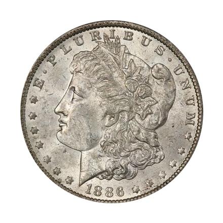 1886-O $1 Morgan Dollar PCGS MS61 (CAC) #3323-1