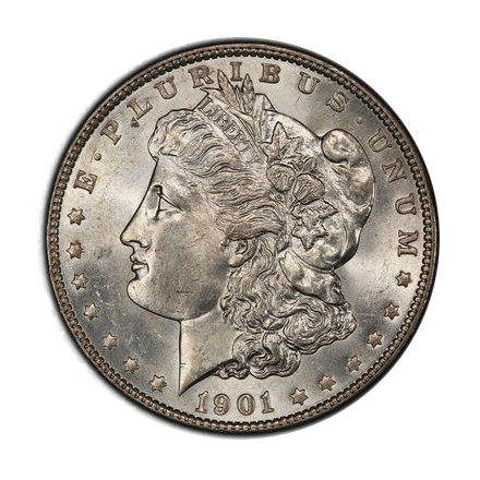 1901 $1 Morgan Dollar PCGS MS64 (CAC) #3327-7