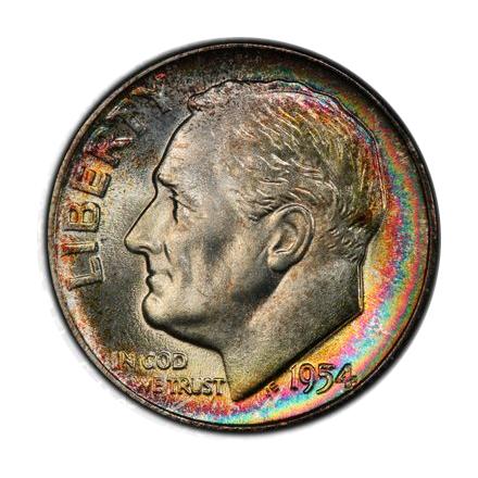 1954 10C Roosevelt Dime PCGS MS68 #3328-4