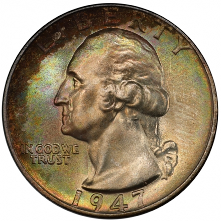 1947 25C Washington Quarter PCGS MS67 #3281-27