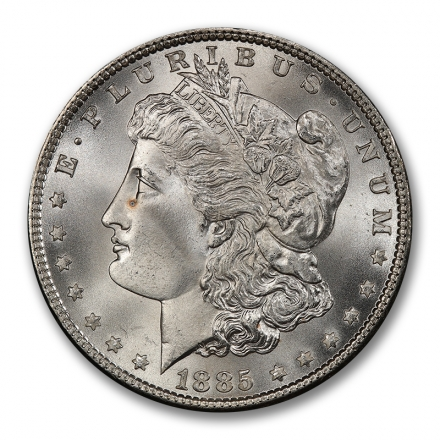 1885 $1 Morgan Dollar PCGS MS67+ (CAC) #2862-8 WHITE